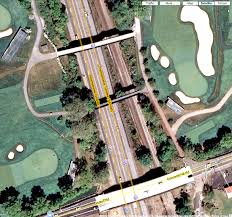 Pennsylvania Toll Road Map by Oakmont Country Club Cart Paths Over Pa Turnpike Bridges And