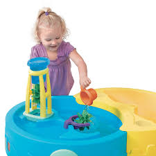step2 busy ball play table shady oasis sand water play table by step2