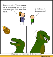 Funny T Rex Meme - now remember timmy in case of an emergency you put your arms over