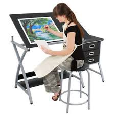 Drafting Craft Table Drafting Craft Table Station Mdf Top Drawing Desk Work Artist