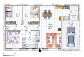 plan maison rdc 3 chambres plan maison plain pied 80m2 plans pour construire sa maison maison