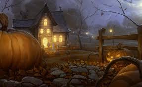 download wallpaper halloween holiday night home light pumpkin