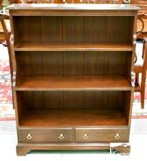Distressed White Bookcase by Furniture Natural U0026 Small Wellington Hall Solid Mahogany