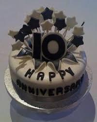 tenth anniversary ideas 10th anniversary cake gold cake anniversary and