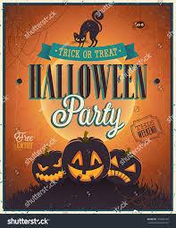 happy halloween poster vector illustration stock vector 152680193
