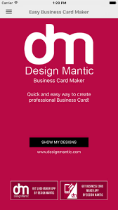 easy business card maker designmantic on the app store