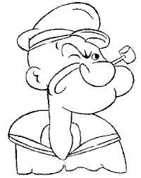 popeye coloring pages cartoon cartoon coloring pages of
