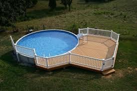 Backyard Above Ground Pool Ideas Unique Pool In Backyard With Large Deck For Above Ground Part Of