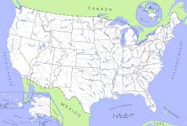Map Of The 50 United States by River Systems In Southeastern Us Map Of South America Nations