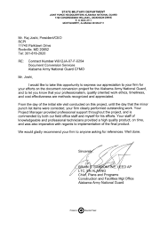 Letter Of Intent Construction by Bcpi Alabama National Guard Testimonial Letter To Bcpi