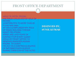 Front Desk Executive Means Sections Of Front Office Department In Hotels