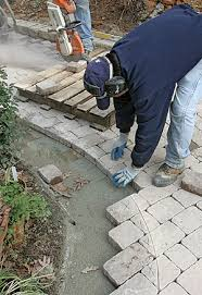 How To Cut Patio Pavers A Concrete Paver Patio From The Bottom Up Homebuilding