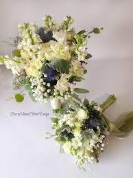 blue bouquets of floral designs
