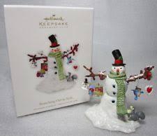 hallmark snowman ornament ebay