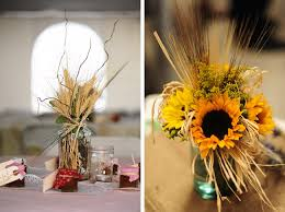 encore centerpiece straw and sunflowers encore creative