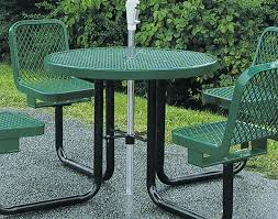 outdoor chair with table attached 36 round metal picnic table w attached chairs