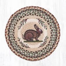 vintage rabbit mspr 395 vintage rabbit trivet the braided rug place