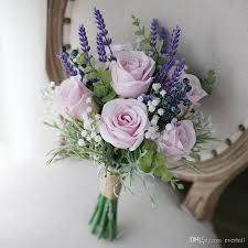 wedding flowers lavender vini artificial pink roses purple lavender wedding flowers