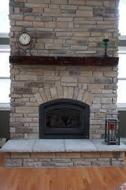 our custom blend of new ledge stone the stone was installed with