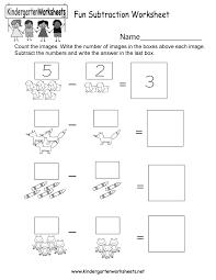 fun subtraction worksheet free kindergarten math worksheet for kids