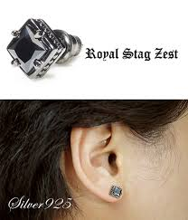 mens earrings studs shinjuku gin no kura rakuten global market black zirconia