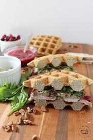 leftover turkey cranberry jam broccoli waffle sandwich
