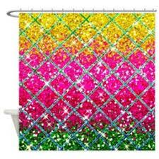 Glitter Shower Curtain Shop Pink Glitter Curtains On Wanelo