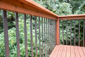 how to modernize your deck by installing aluminum balusters home