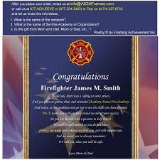 academy graduation gift academy graduation gift for fireman firefighter