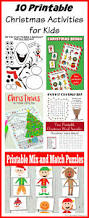 10 printable christmas activities for kids christmas printables