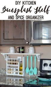 23 best clutter free kitchen countertop ideas and designs for 2017 9 backsplash shelf and spice organizer