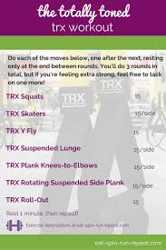 the totally toned trx workout eat spin run repeat