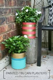 painted tin can planters hometalk