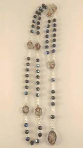 rosary of the seven sorrows seven sorrows dolors chaplet rosary glass with sorrows