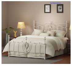 White Metal Bed Frame Queen White Bed Frames Queen Home Bedroom Full Queen And King Beds