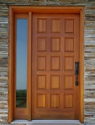 Exterior Wood Doors With Glass Panels by Exterior Design Classy Entry Door Design With Solid Wood
