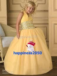 lovely yellow tulle halter beads flower girls u0027 dresses girls
