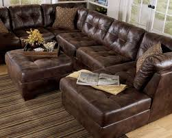 collection in leather sectional with chaise and ottoman black faux