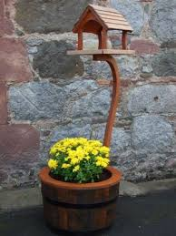 bird house with barrel small all cooped up