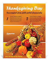 thanksgiving flyer template design id 0000000721