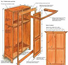 Fine Woodworking Bookcase Plans by Building A Shaker Style Wardrobe Finewoodworking