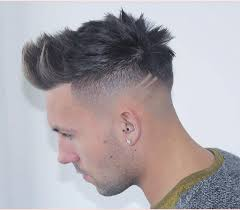 mens haircuts pompadour together with m13ky high fade hard part