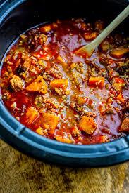 crock pot sweet potato chipotle chili paleo cotter crunch