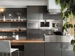 cuisine gris bois meuble cuisine et plan de travail cuisine à clamart