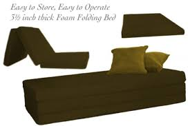 trifold foam bed chocolate 3 5 inch the futon shop