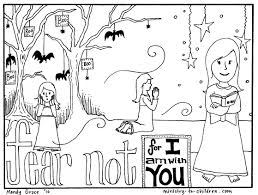 halloween coloring pages do not fear bible verse throughout