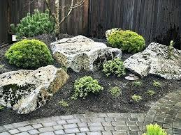 Rock Garden Plan Japanese Rock Garden Plants Mossy Stones And Sand In Home Design