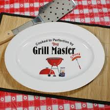 personalized serving platter ceramic personalized grill master platter giftsforyounow