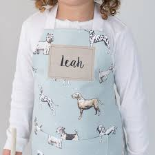 personalised handmade print children s apron personalised