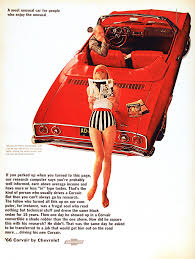 cartoon car back chevrolet corvair advertisement 1966 vintage advertising